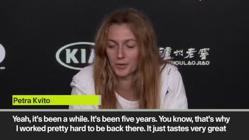 'Not many believed I could do this again' Kvitova