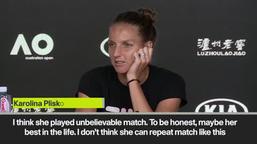 'Maybe the best match of her life' Pliskova on Osaka