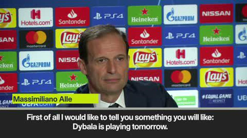 'Dybala will start against Atletico' Allegri