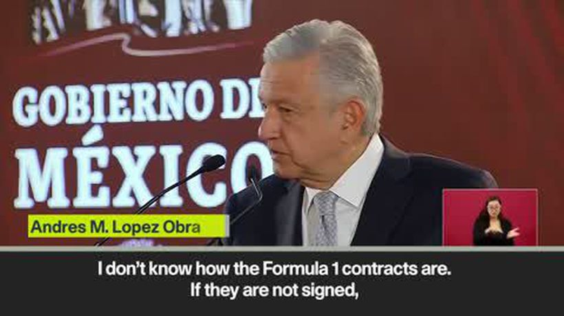 Mexican President Obrador casts doubt on future of Mexico Grand Prix