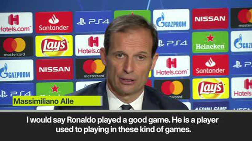 'Ronaldo played a good game' Allegri