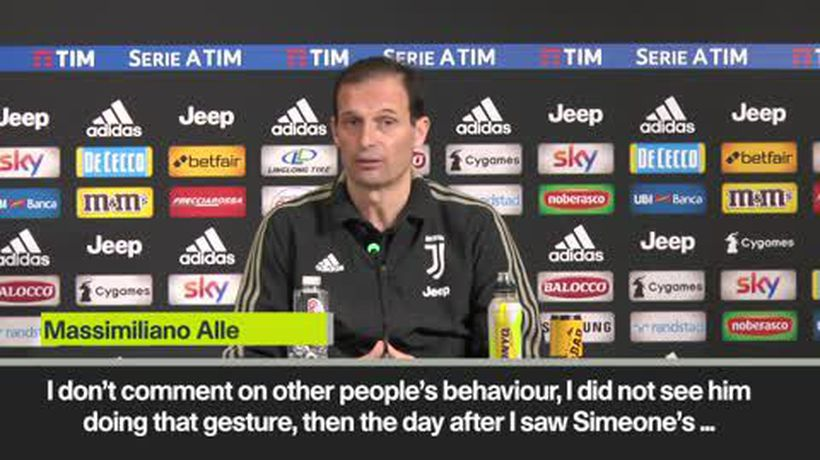 "Allegri digs at Simeone gesture - ""everyone behaves according to who they are"""