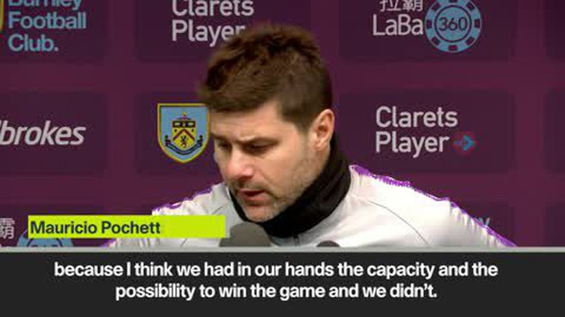 'Tottenham can't be real title contenders' Pochettino on 2-1 Burnley loss