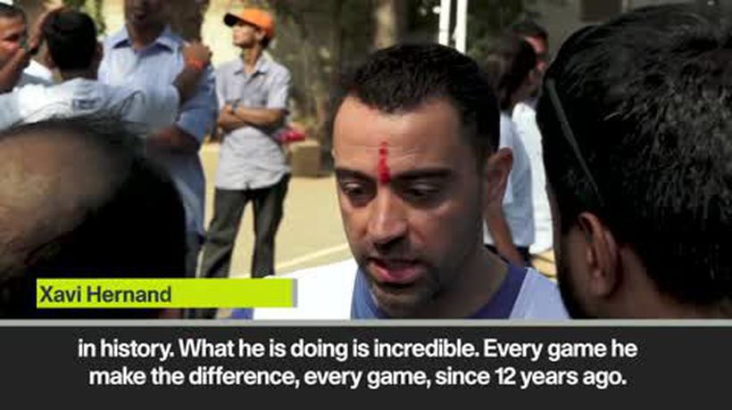 Eng Sub Messi is best player in history - Xavi