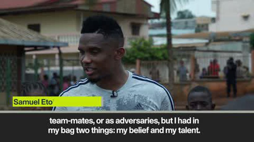 Eto'o inspires children with brilliant message in Cameroon