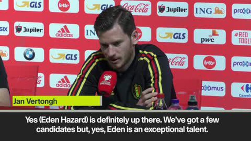 Vertonghen jokes he hopes Hazard improves for Belgium and not at Chelsea