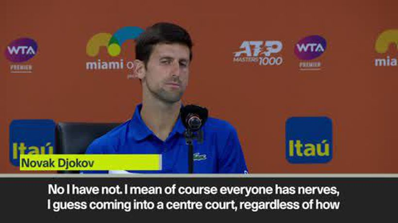 Djokovic plays down nerves over recent form