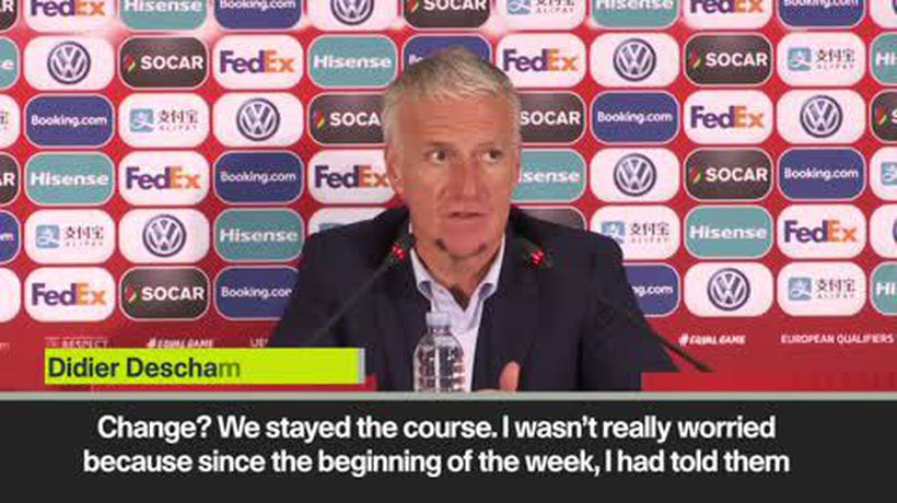 Deschamps on Pogba and Griezmann dedication