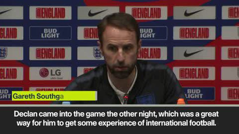 Southgate has 'no hesitation' throwing Rice into hostile atmosphere in Montenegro