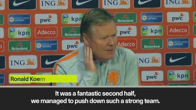 Koeman hails 'fantastic' second half after Netherlands lose 3-2 to Germany