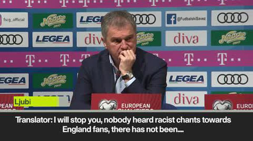 Why should I comment on racist abuse says Montenegro coach