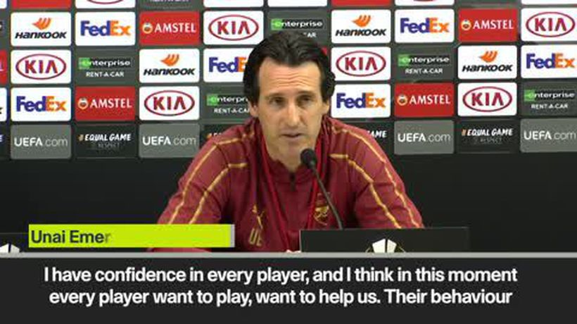'commitment is fantastic' Emery before Napoli game