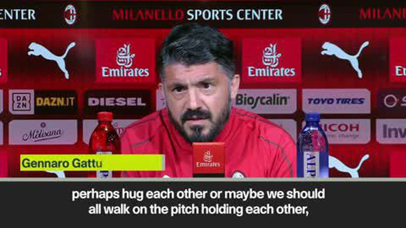 Milan and Lazio 'should walk on the pitch holding each other' says Gattuso in solidarity with Bak...