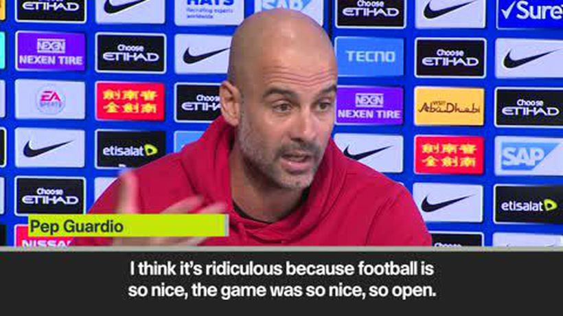 'VAR chat is ******* boring' says Guardiola ahead of City's EPL clash with Spurs