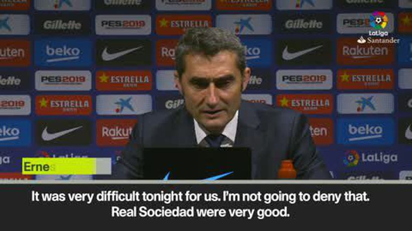 'Difficult to beat Real Sociedad after Man Utd match' Valverde