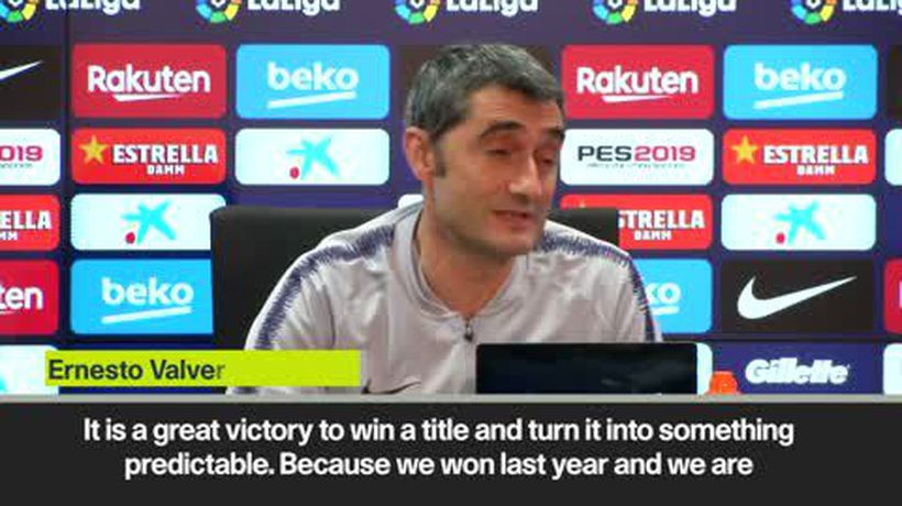 Valverde hails Barcelona dominance in La Liga