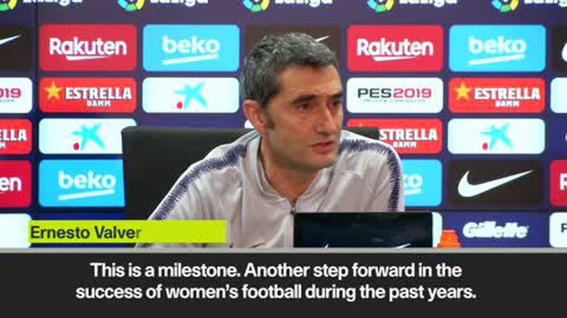 'A milestone for women's football' - Valverde on Barcelona women's team