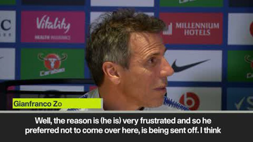 'Sarri is very unhappy' - Zola explains Chelsea boss no-show at press conference