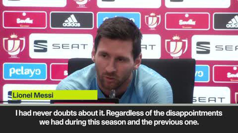 Messi denies wanting to leave Barcelona despite lack of Champions League success