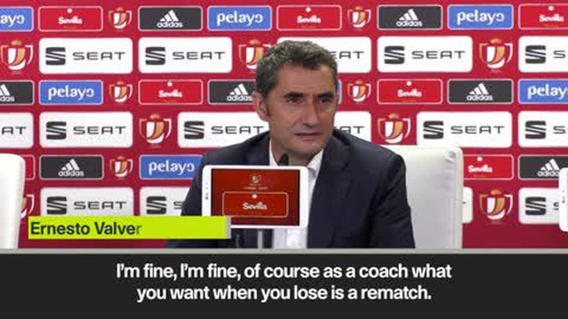 Valverde faces up to the reality of Copa del Rey final defeat at the hands of Valencia