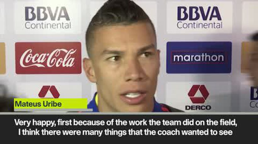 James Rodriguez talks after Colombia's 3-0 win over Peru