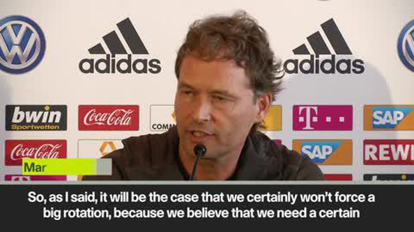 'We won't force big rotation' Germany coach ahead of Estonia Euro qualifie