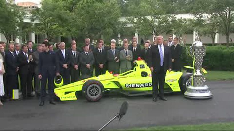 Trump welcomes Indy 500 winner Simon Pagenaud to White House