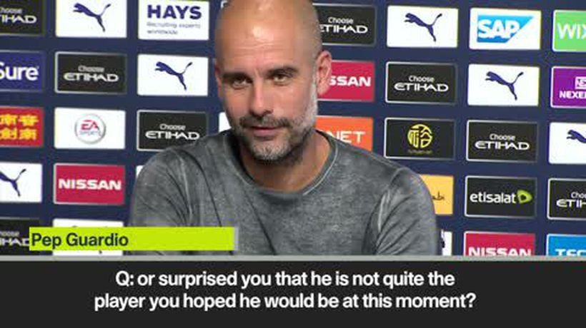 Guardiola's hilarious exchange with reporter when pressed about Stones