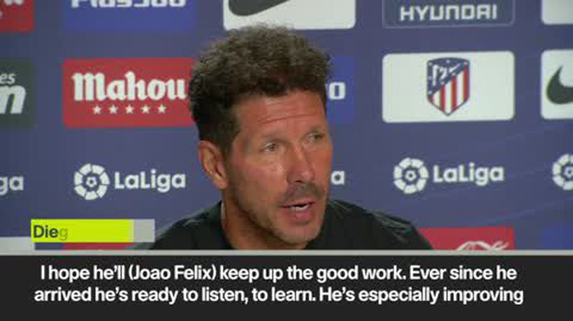 'I hope he'll keep up the good work' Simeone on Felix