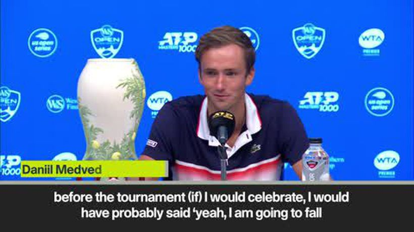 """I was too exhausted to celebrate"" Medvedev after claiming Cincinnati title"
