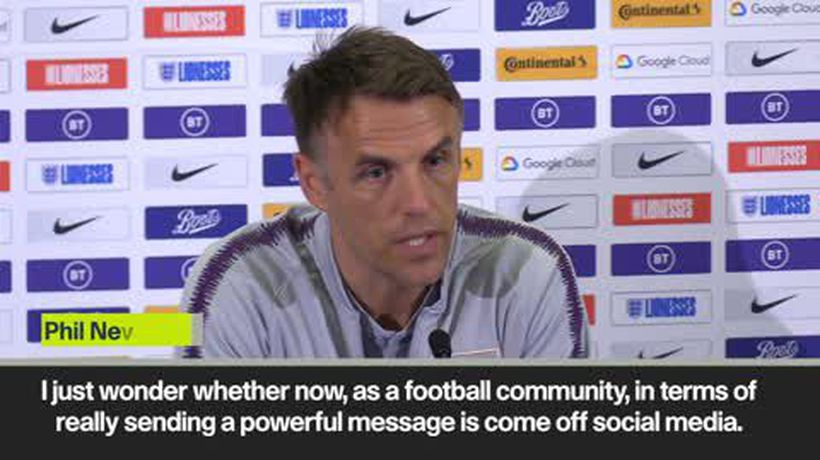 Phil Neville calls for social media boycott to combat racism