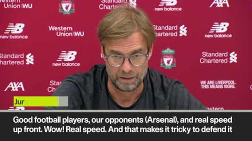 'Wow, real speed' Klopp sompliments Arsenal's forwards