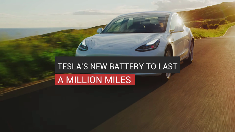 Tesla's New Battery To Last A Million Miles