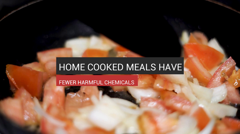 Home Cooked Meals Have Fewer Harmful Chemicals