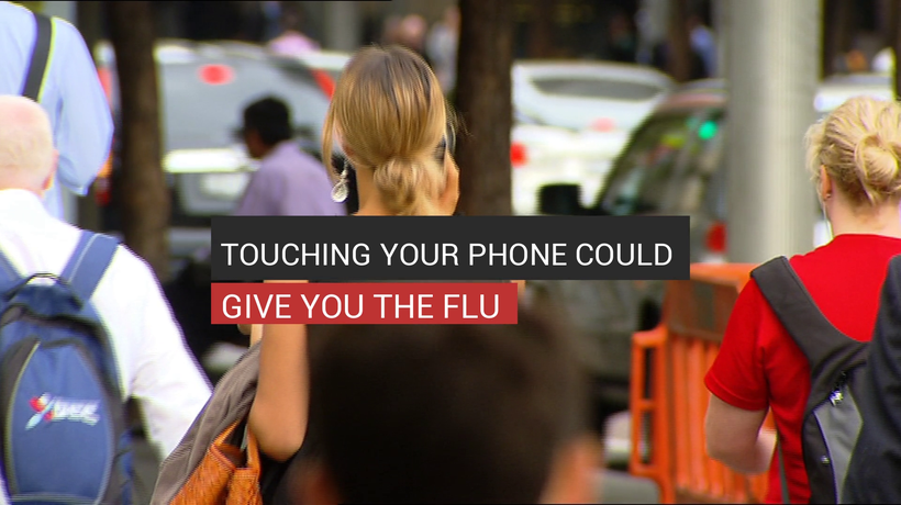 Touching Your Phone Could Give You The Flu