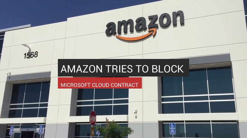 Amazon Tries To Block Microsoft Cloud Contract