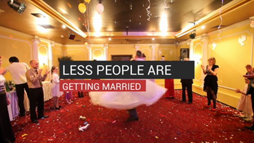 Less People Are Getting Married