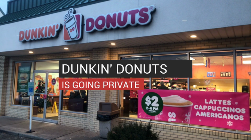 Dunkin' Donuts Is Going Private