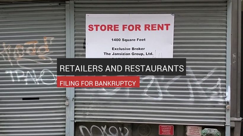 Retailers and Restaurants Filing for Bankruptcy