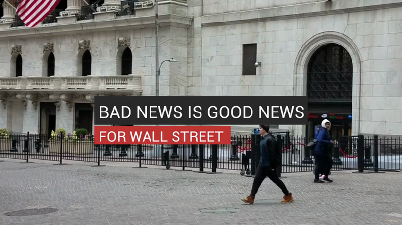 Bad News is Good News for Wall Street