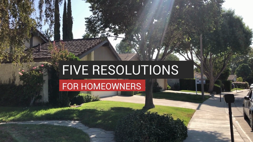 Five Resolutions For Homeowners