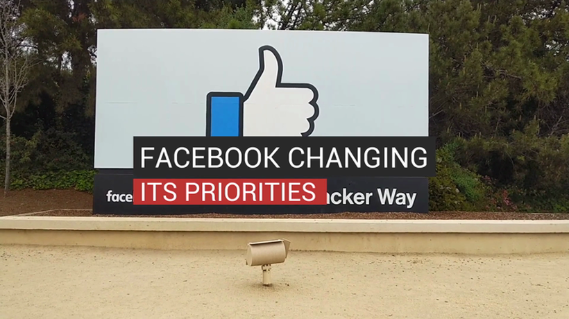 Facebook Changing Its Priorities