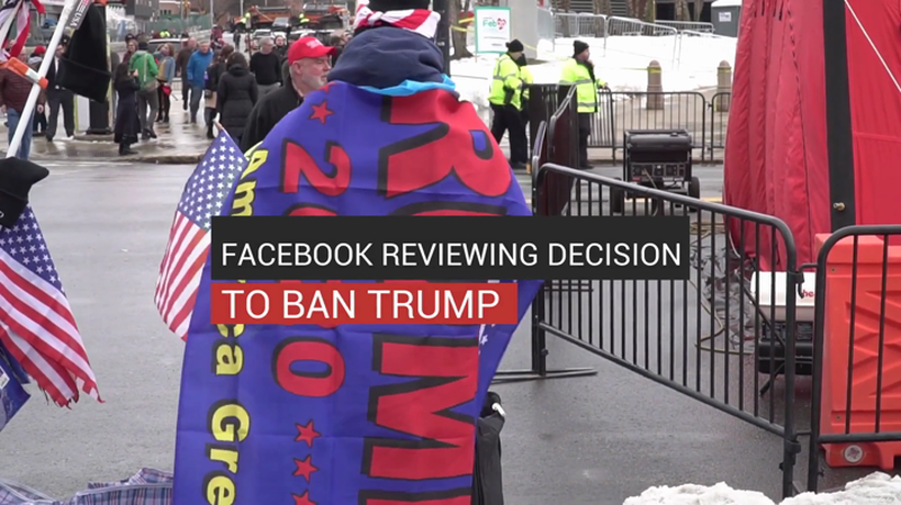 Facebook Reviewing Decision to Ban Trump