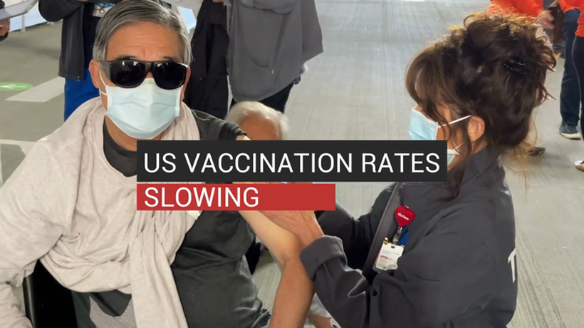US Vaccination Rates Slowing