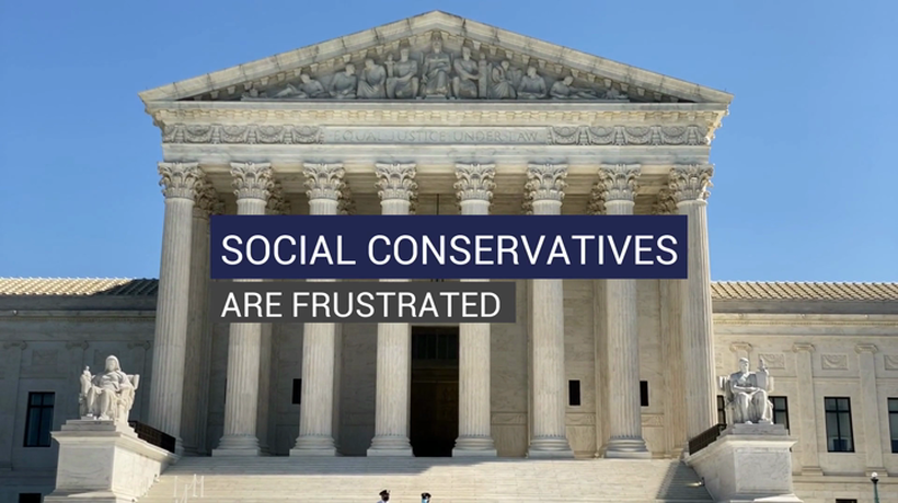 Social Conservatives are Frustrated