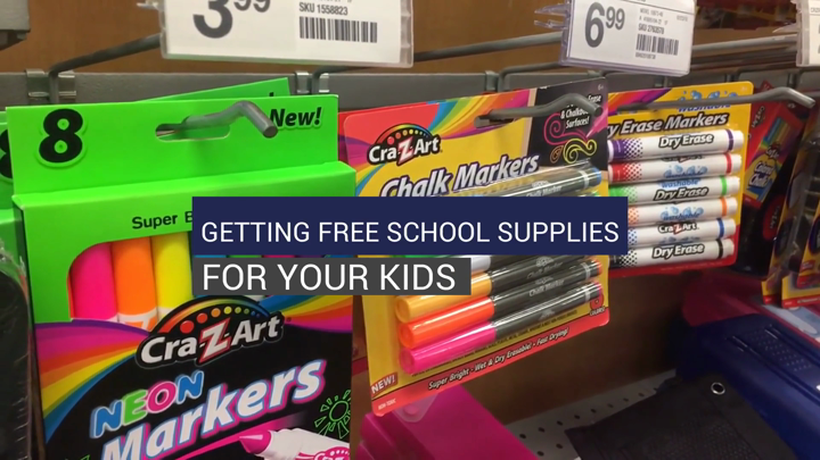 Getting Free School Supplies For Your Kids