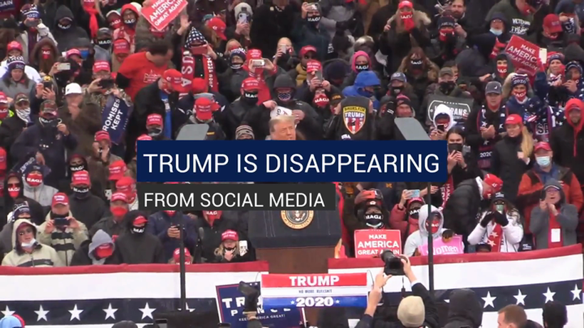 Trump is Disappearing From Social Media