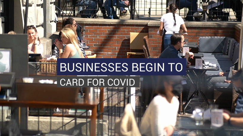 Businesses Begin to Card for COVID