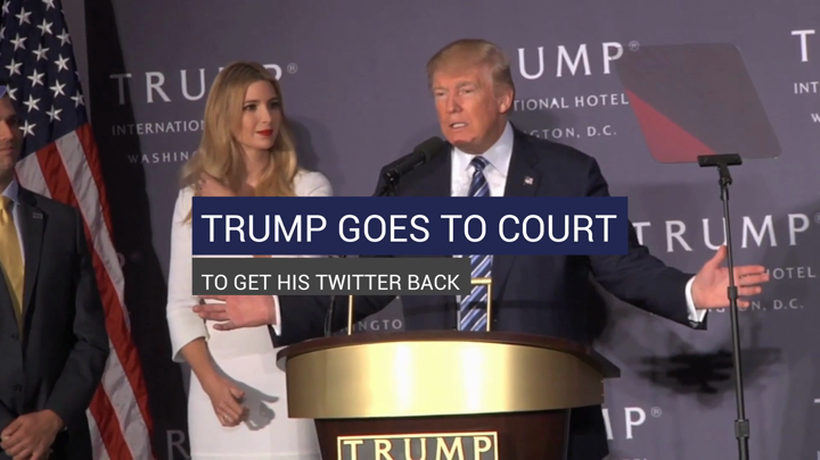 Trump Goes To Court To Get His Twitter Back