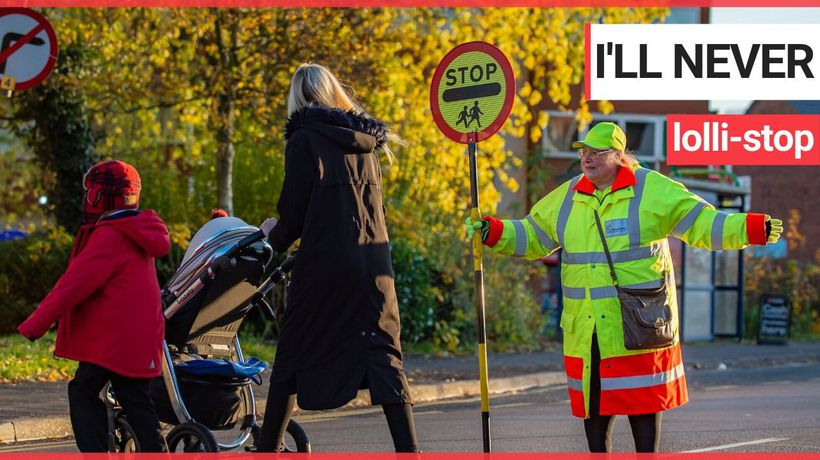 Britain's longest serving lollipop lady has no plans to hang up her stick – after an incredible 50 Y